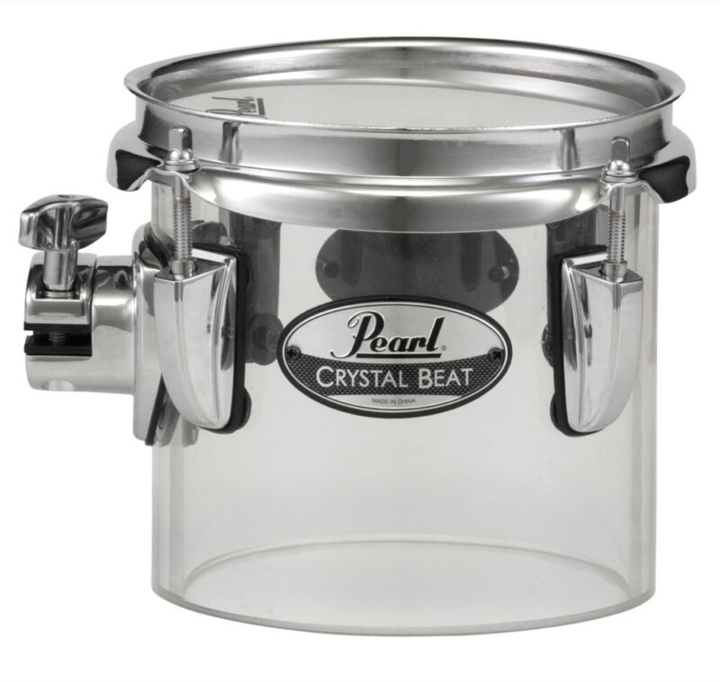 "Pearl Crystal Beat 6""x5.5"" Single-Headed Tom - Ultra Clear"