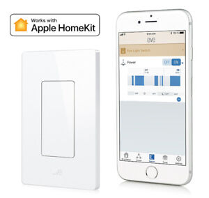Eve Light Switch, Connected Wall Switch with Apple HomeKit techn