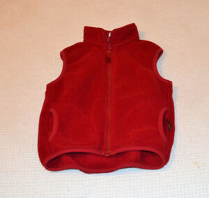 Size 3 red zippered vest