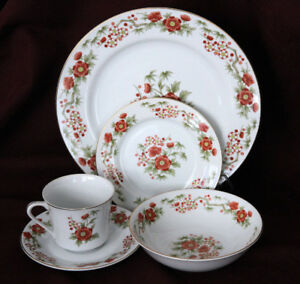 DYNASTY CHINA 5PC PLACE SETTING DINNERWARE FOR 14 (Japan)