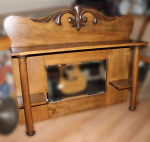 Antique Maple Mantle Mirror with Shelves NEW PRICE $100 Kawartha Lakes Peterborough Area image 1