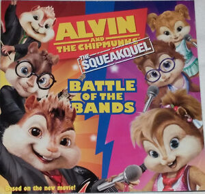 Alvin and Chipmunks Battle Bands Book & 5 Toy Figures