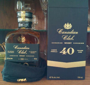 Canadian Club 40 year old limited release Whisky