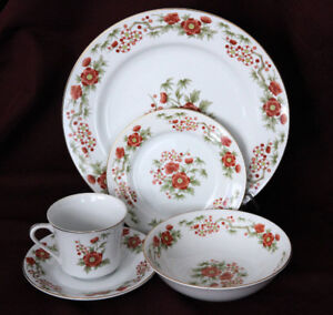 DYNASTY CHINA (JAPAN) 5PC PLACE SETTING DINNERWARE FOR 14