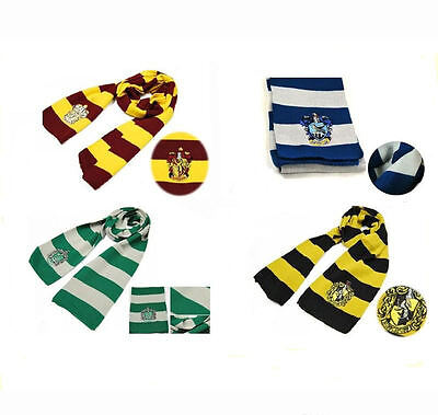 Kids Xmas Gift Scarf For Harry Potter Gryffindor Slytherin Hufflepuff Ravenclaw - Harry Potter Costume For Child