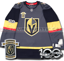 VEGAS GOLDEN KNIGHTS ADIDAS INAUGURAL HOME JERSEY AUTHENTIC PRO NHL 100TH PATCH