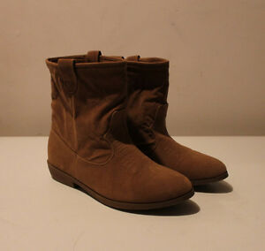 Women's short brown fall boots