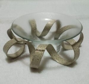 Bowring Glass Votive Candle Holder with Spiral Metal Base