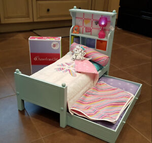 American Girl Doll Bouquet Bed + Bedding