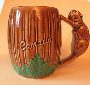 Vintage Mug with Canada on it and beaver handle