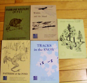 5 PEI DEPARTMENT OF THE ENVIRONMENT BOOKS PLANTS, FISH, WILDLIFE