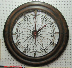 """Large Metal Wall Clock 40"""" - battery pack needed"""