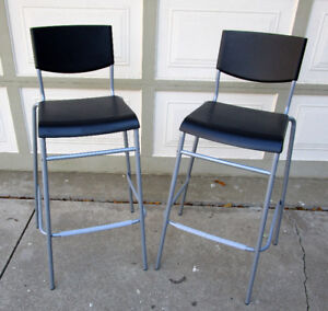 TODAY 2 IKEA STACKABLE BAR STOOLS - VERY GOOD COND.