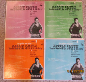 "BESSIE SMITH LP RECORDS – The Bessie Smith Story on 4 Vinyl 12"""