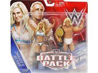NEW RIC FLAIR & CHARLOTTE WWE MATTEL WRESTLING FIGURES (BATTLEPACK 41)