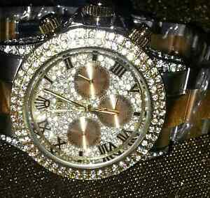 ROLEX neuf 18 k d'or high quality avec  crystal swarevisk unisex