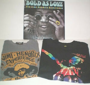 Bold as Love The Jimi Hendrix Experience Book and Two T Shirts London Ontario image 1