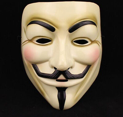 V For Vendetta Mask Guy Fawkes Anonymous Halloween Masks Fancy Dress Costume Hot