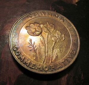 TWO 1870-1970 Manitoba Centennial Commemorative Medals Uncl Kitchener / Waterloo Kitchener Area image 5