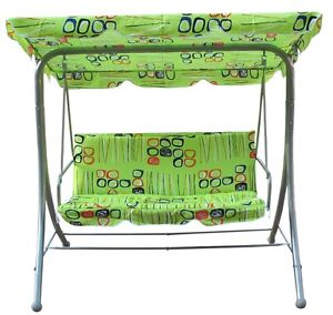 3 Seat Swing -Brand New- Complete Set with Canopy & Cushion
