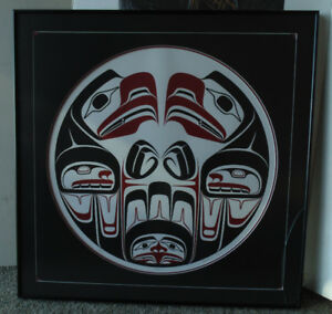 Two Native art framed limited edition  lithographs