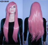 BRAND NEW: 80cm Long Pink Straight Cosplay Wig (429-0640)
