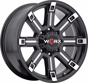Worx Triton 20x9 Black and Milled