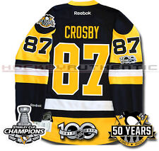 2SIDNEY CROSBY PITTSBURGH PENGUINS 2017 STANLEY CUP CHAMPIONS JERSEY REEBOK