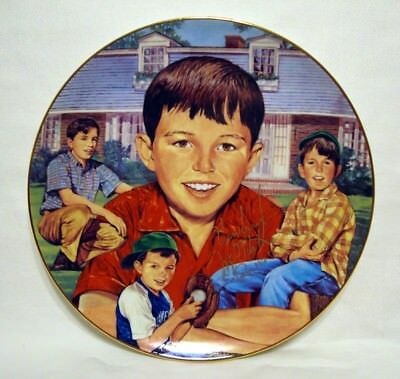 Jerry Mathers Leave It To Beaver Autographed Gartlan Plate Hand Signed Numbered