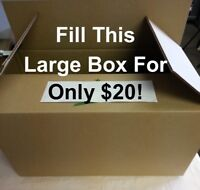 """""""Fill The Large Box For $20"""" Massive Sale Continues This Weekend"""