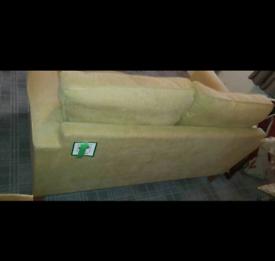 2 seater green sofa