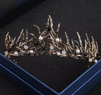 Black crown for wedding hair piece