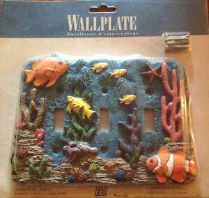 3D coral tripple toggle wallplate