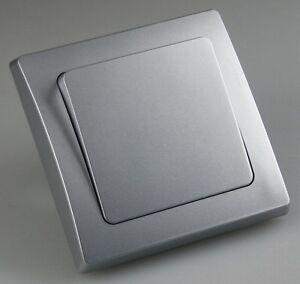 DELPHI silber: UP-Wechselschalter/Lichtschalter - Unterputz