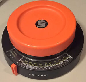 Vintage Rare SALTER Kitchen Scales Orange & Black