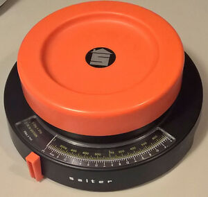 Vintage Rare SALTER Kitchen Scales Orange & Black