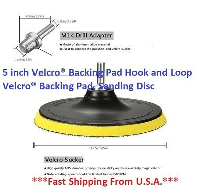 5 Inch Backing Pad Hook And Loop Backing Pad Sanding Disc