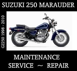 Suzuki GZ250 Marauder GZ 250 Motorcycle Workshop Service Repair Manual