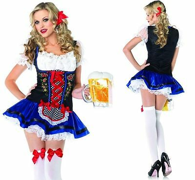 Beer Maiden Costume (Sexy  Adult Flirty Frauline German Oktoberfest Girl Beer Maiden Costume)