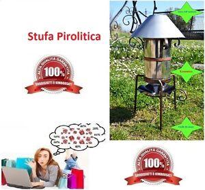 Stufa pirolitica da esterno o campeggio a pirolisi a pellet biomasse ecologica ebay - Stufa pirolitica per casa ...