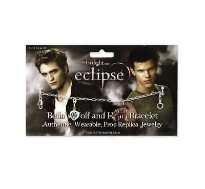 NEW Twilight Bella's Wolf and Heart Bracelet- Officially Licensed