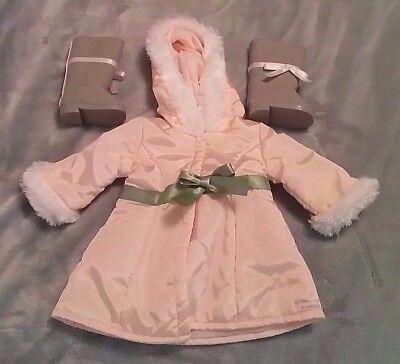AMERICAN GIRL DOLL- Pretty Pink Coat Set w/ Boots & Original Box, RETIRED- MINT!