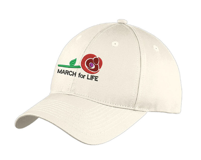 March for Life elegant embroidered cap, Support Life, Pro-Life