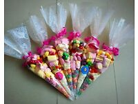 Sweet cones *birthday*easter*party favors* weddings