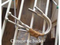 chrome curtain tie backs