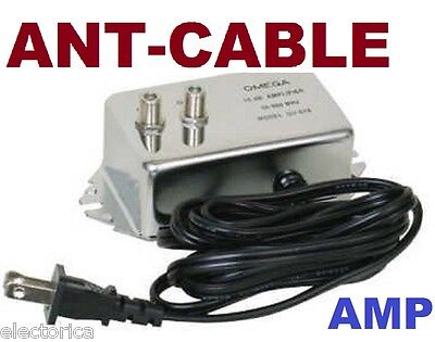 - HD INLINE AMPLIFIER SIGNAL BOOSTER OTA  ANTENNA CABLE TV AMP OVER THE AIR ANT
