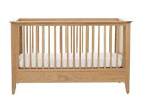 Mothercare Knightsbridge Cot Bed with Mattress and Top Changer (full set). 0-5 yo