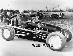 Al Pillion AUTO RACING VINTAGE MIDGET CAR ON TRAILER PHOTO -INDY 500 -NEWTON MA