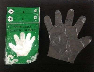200 Disposable Plastic Gloves-sanitary Restaurant Home Dishwashing Bbq Gloves