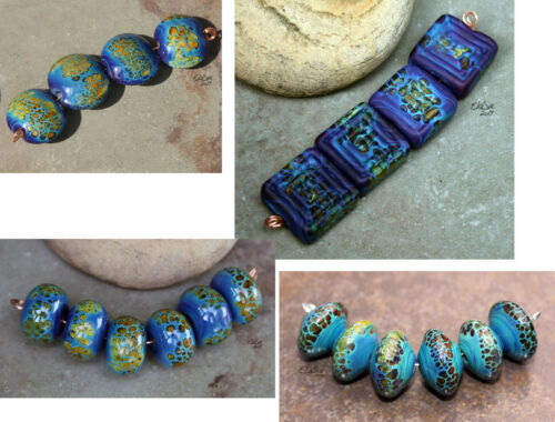 Carib -  Handmade Glass Lampwork Beads MTO - Choose Shape and Finish